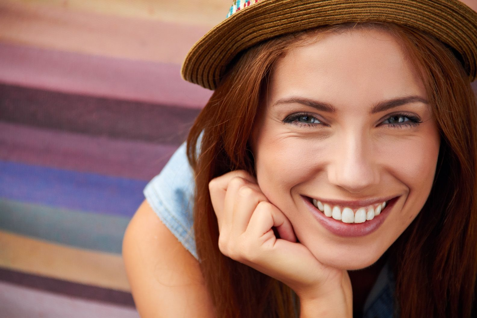 Teeth Whitening - young lady smiling